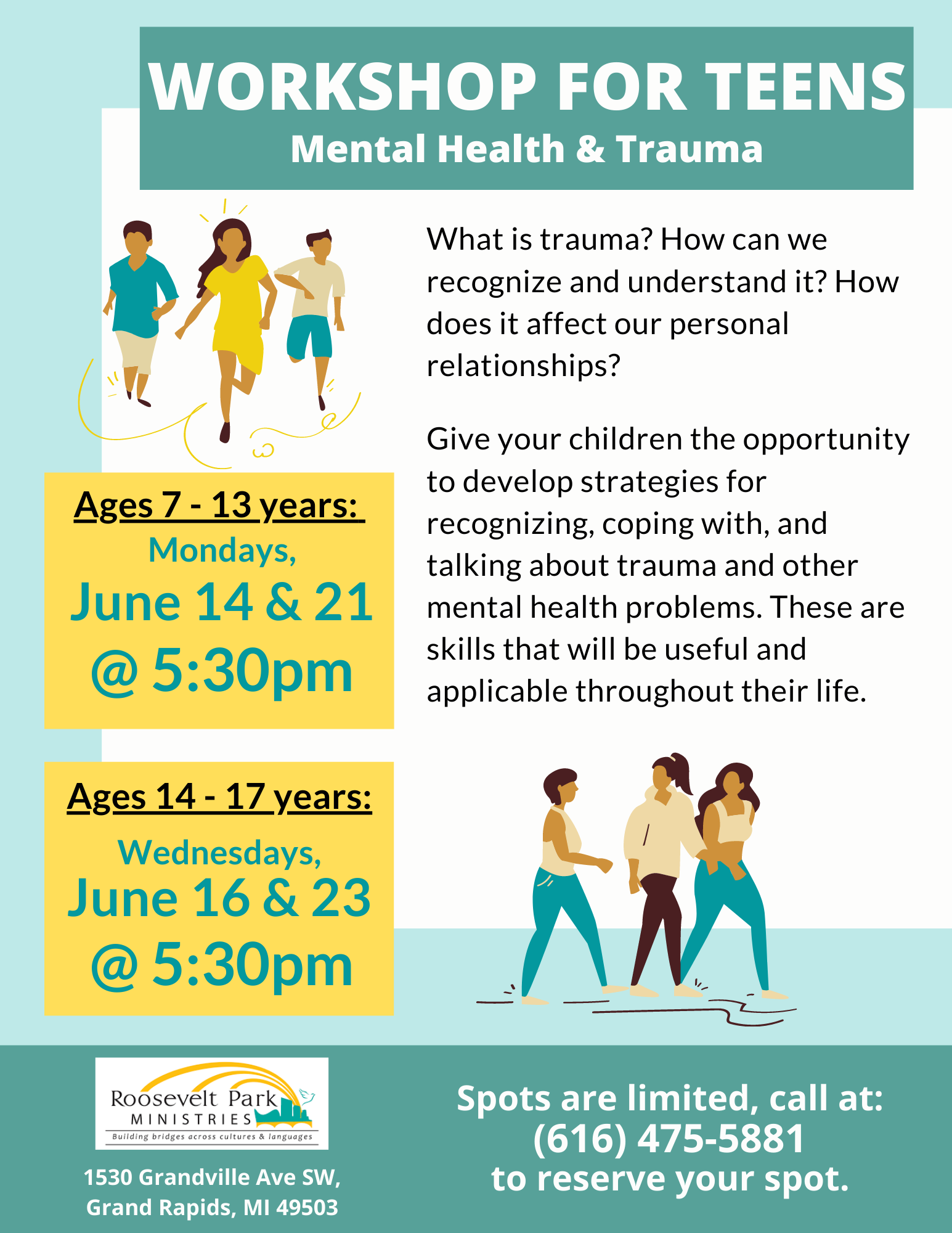a mental health workshop series specifically tailored towards kids and adolescents